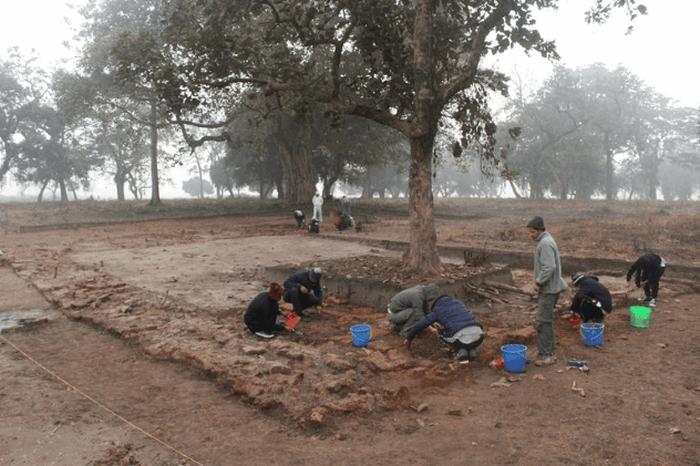 Раскопки на предполагаемой Родине Будды.