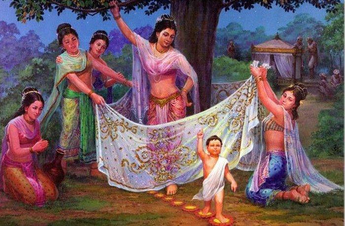 Первые шаги Будды.