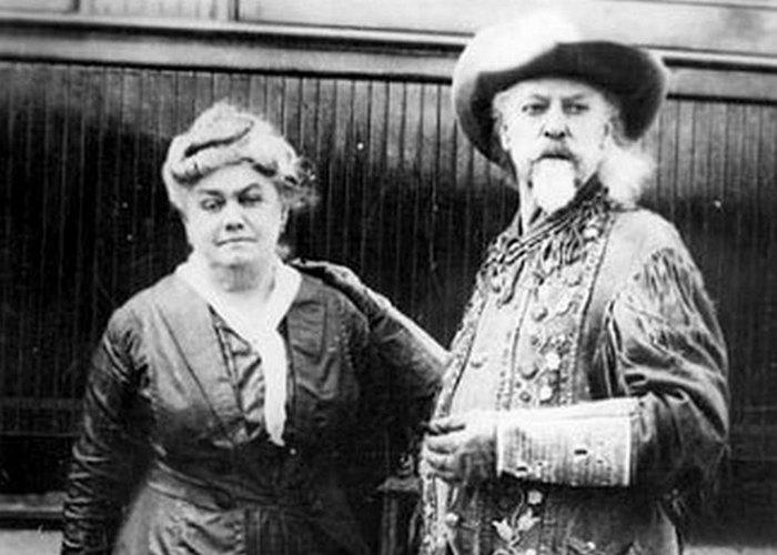 Буффало Билл и его жена Луиза.