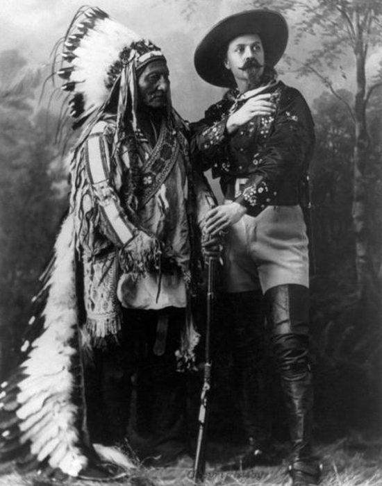 Сидящий Бык и Баффало Билл, Монреаль, Квебек, 1885 год.