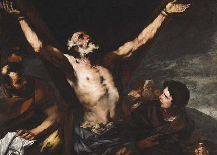 Жесткая казнь: привязывание к кресту.