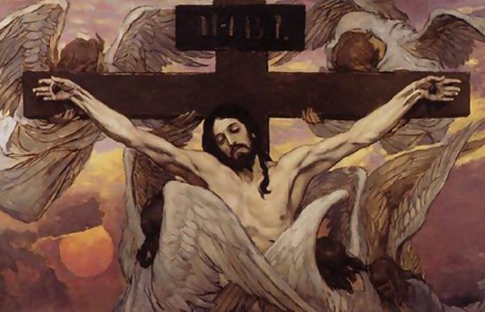 «Распятый Иисус Христос», эскиз росписи Владимирского собора в Киеве/Васнецов В.М.