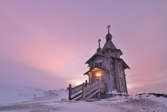 Троицкий храм и другие церкви Антарктиды.