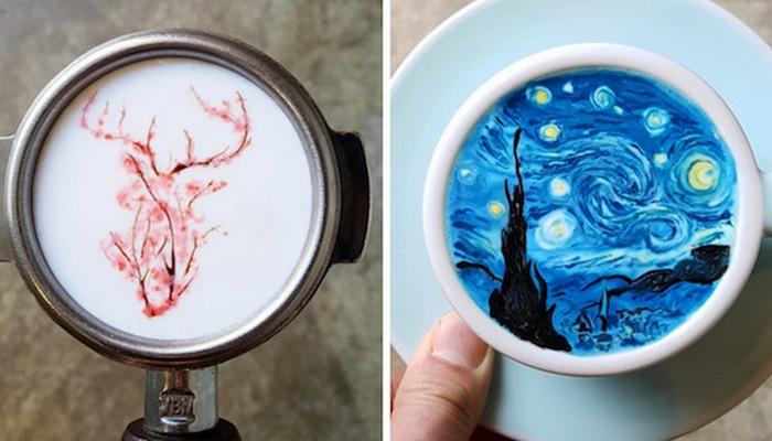 «Кофейный» художник Кангбин Ли.