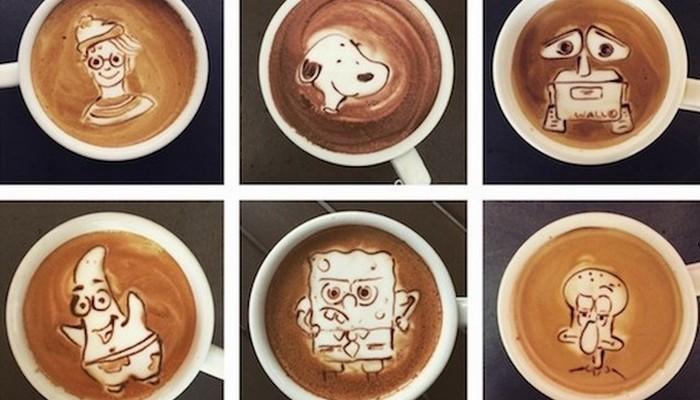 «Кофейный» художник Меланни Акино.