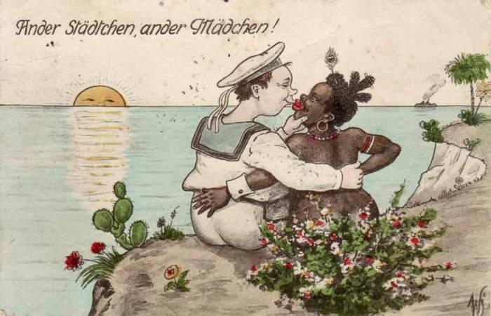 Колониальные открытки из прошлого.
