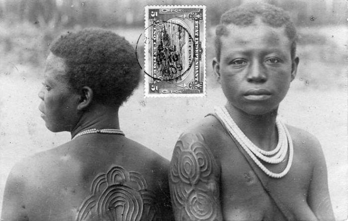 Голые туземцы на колониальных открытках.