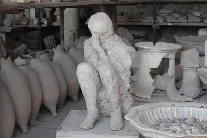 Руины Помпеи, Неаполь, Италия.