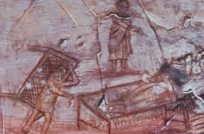 Раннее изображение Христа, исцеляющего парализованного человека.