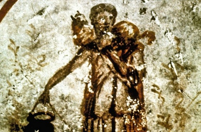 Раннее изображение Христа: Добрый Пастырь.