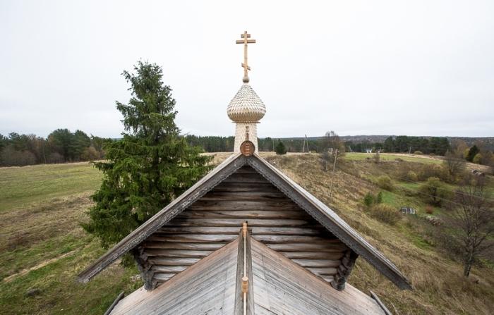 Эту церковь 18 века недавно ремонтировали.