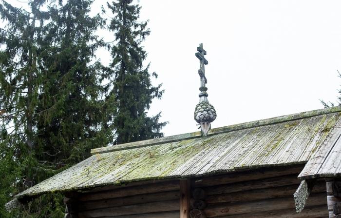 Мох встречается буквально везде на деревянных стенах и крышах.