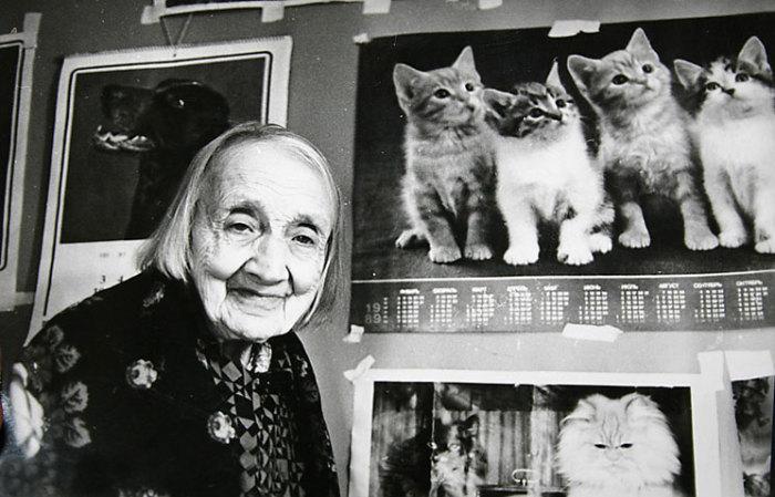 Анастасия Цветаева в 99 лет.