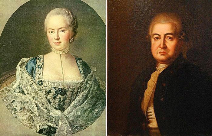 Дарья Салтыкова и Николай Тютчев.