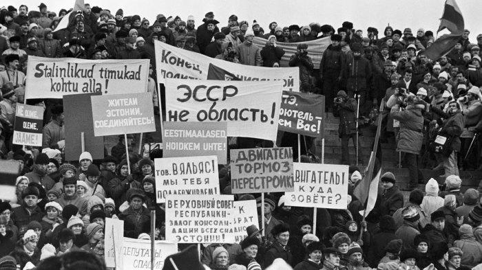 Митинг 26 ноября 1988 года в Таллине.