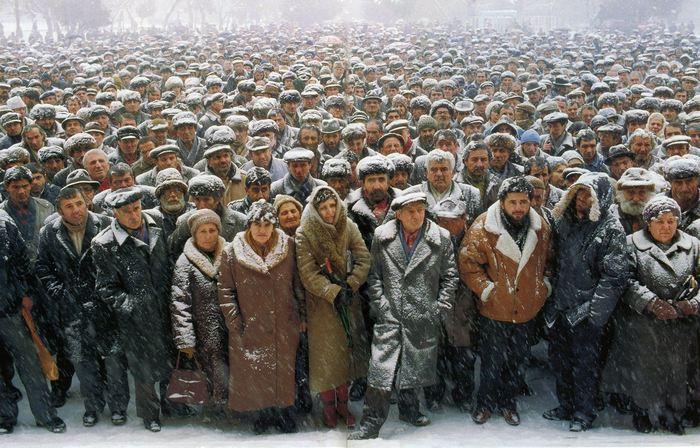 Митинг в Степанакерте.
