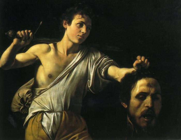 Караваджо. «Давид с головой Голиафа».