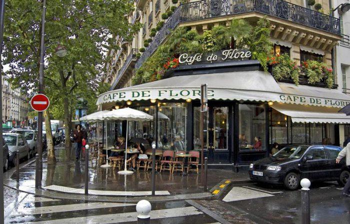 Так выглядит кафе, изображённое на картине сегодня.