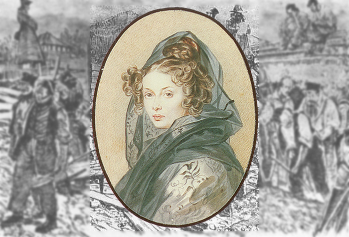 П. Ф. Соколов. Портрет Александры Григорьевны Муравьевой, 1825