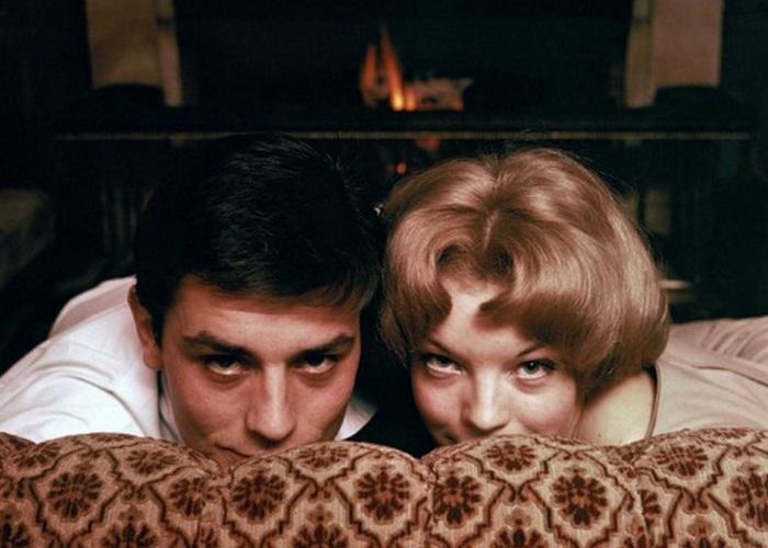 Ален Делон и Роми Шнайдер: когда в сердцах любовь. / Фото: silvervelvetsky.com