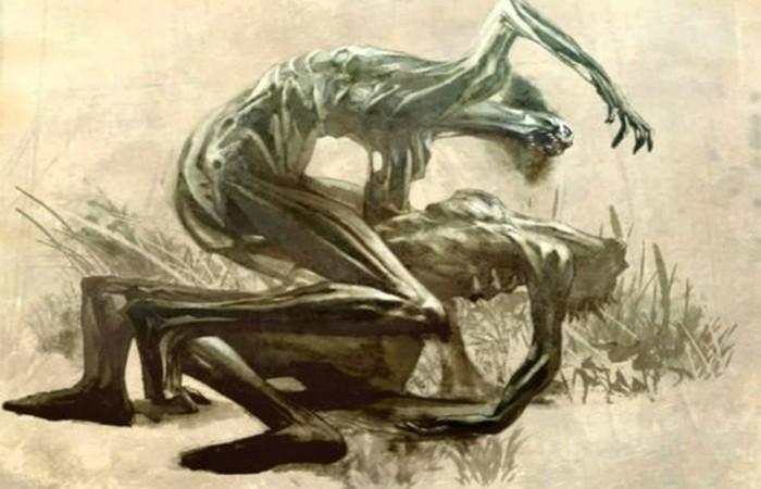 Странный демон Дзикининки.