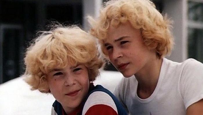 Братья Торсуевы во время съемок фильма *Приключения Электроника.*