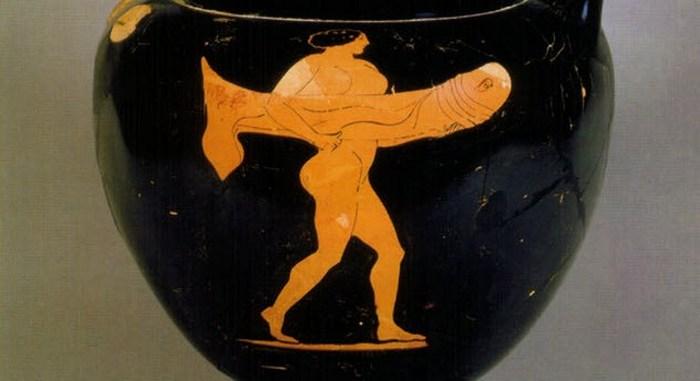 Рисунок с древней амфоры.