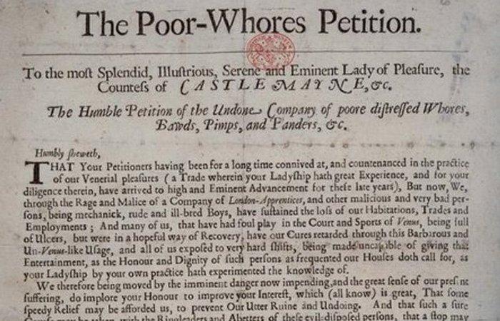 Историческая недомолвка: петиция путан./фото: listverse.com