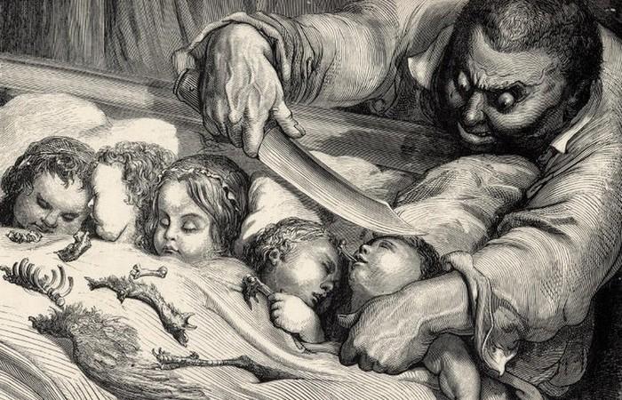 Иллюстрация Гюстава Доре к сказке Шарля Перро «Мальчик с пальчик».
