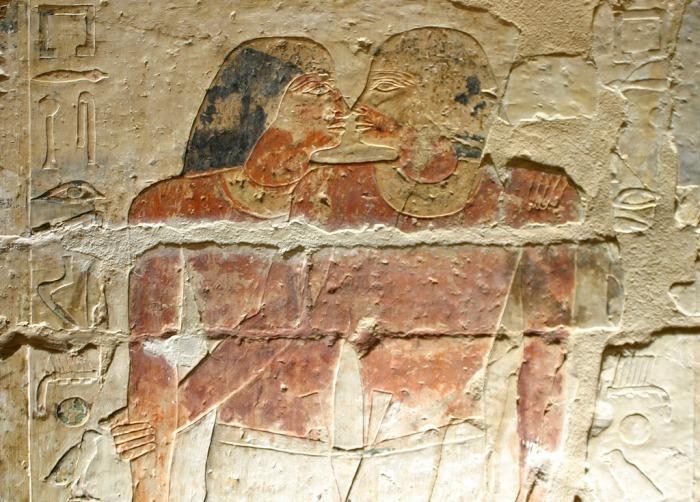 Рельеф из гробницы Нианххнума и Хнумхотепа в Саккаре. 24 в. до н.э.