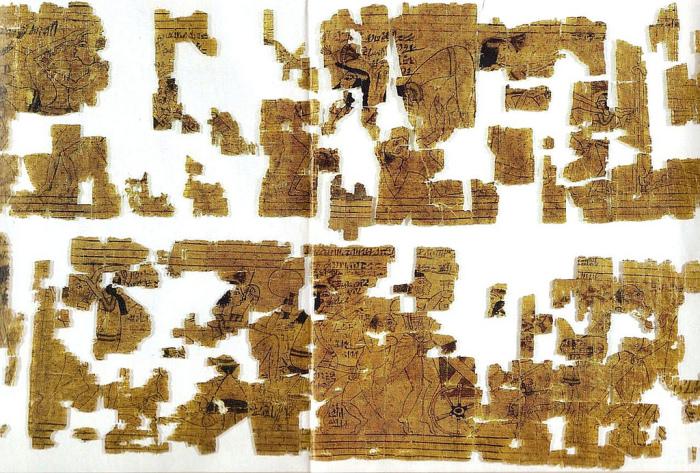 Туринский эротический папирус. Фотография. 12 в. до н.э.
