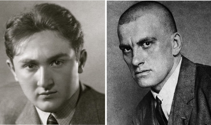 Яков Израилевич и Владимир Маяковский.