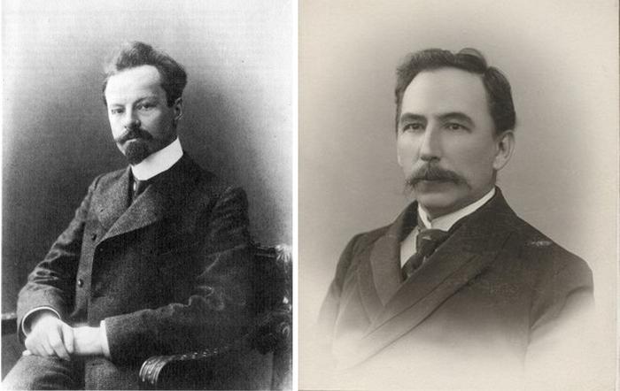 Константин Бальмонт и Петр Морозов.