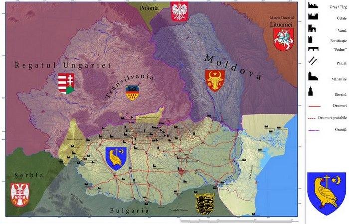 Карта средневековой Валахии. | Фото:top.thepo.st