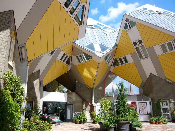 Кубические дома Роттердама.