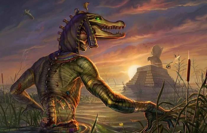 Бог-крокодил Себек.
