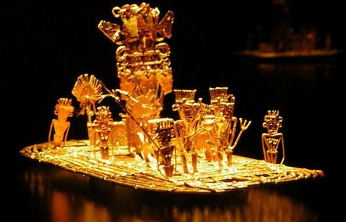 Золотая скульптура из сплава золота (более 80%), серебра и меди.