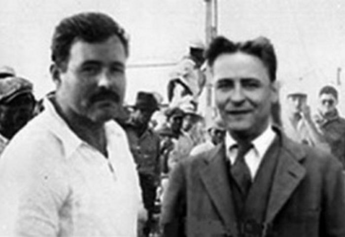 Эрнест Хемингуэй и Ф. Скотт Фицджеральд.