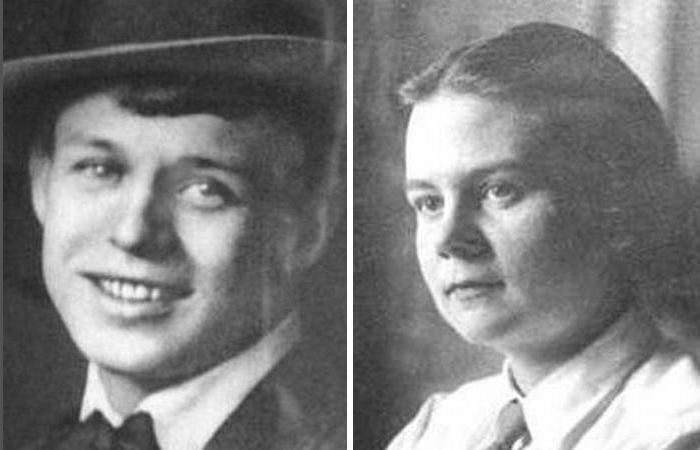Сергей Есенин и Софья Толстая.