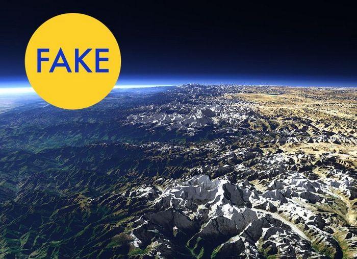 Самые высокие горы на Земле — вид из космоса.