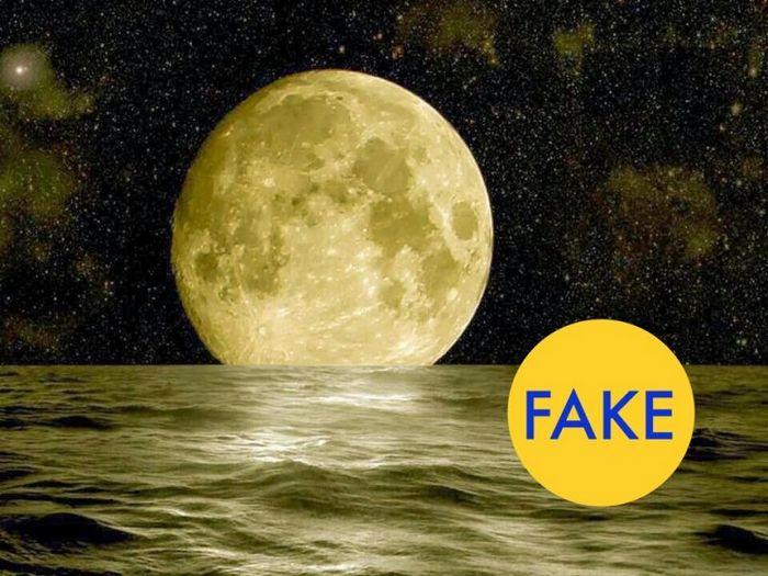 Полная луна, вид из Австралии.
