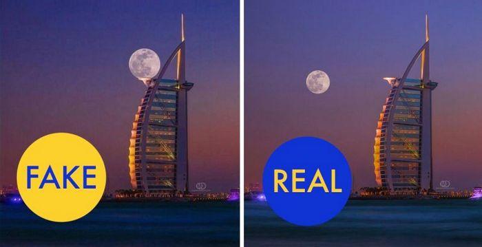 Луна в Дубае.