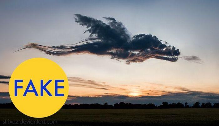 Облако, которое выглядит как дракон.