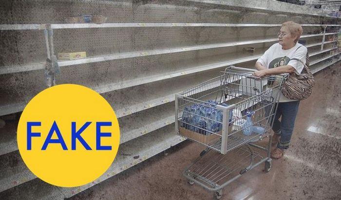 Фото пустых полок магазинов в Венесуэле.