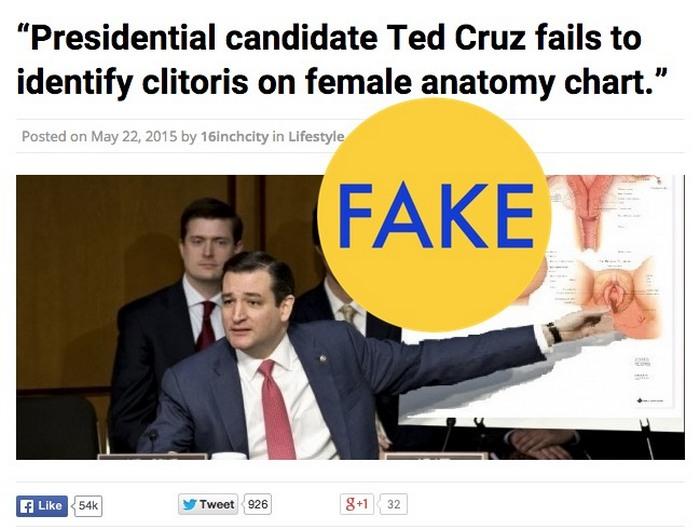 Тед Круз пытается найти клитор.