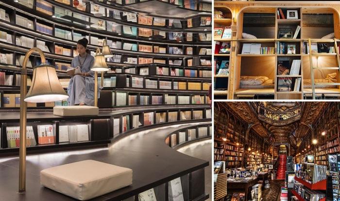Потрясающие книжные магазины.