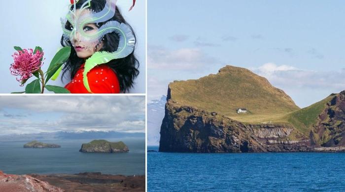 Дом на острове Эдлидаэй, который предположительно может принадлежать певице Бьорк.