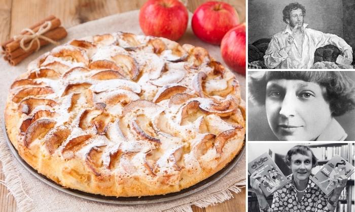 Яблочный пирог - любимое лакомство Александра Пушкина, Марины Цветаевой и Астрид Линдгрен.