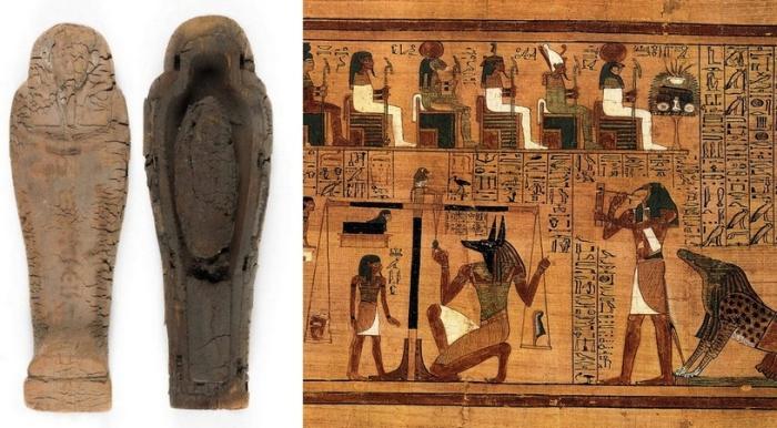 Самый маленький гроб времен древнего Египта.