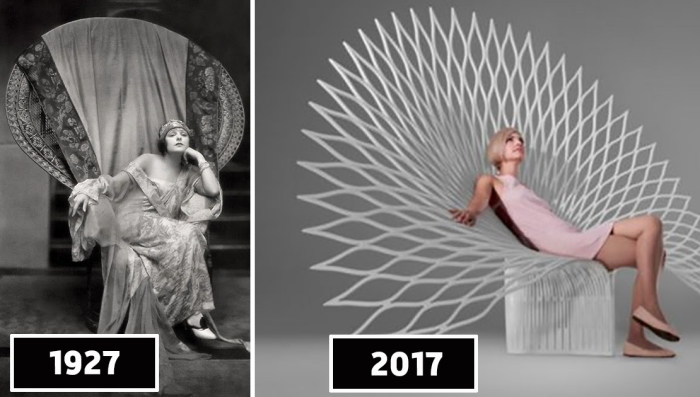 Кресло-Павлин: вчера и сегодня.